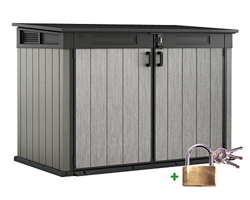 Ondis24 Keter Grande Store XXL Gartenbox Gerätebox abschließbar Mülltonnenbox für 3...