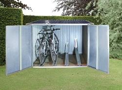 fahrraddiebstahl mit einer fahrradgarage vorbeugen. Black Bedroom Furniture Sets. Home Design Ideas